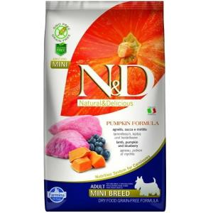 N&D Grain Free Pumpkin Adult Mini Lamb & Blueberry 800 g